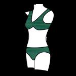 Women's Bikini Style Swimsuit - Front View