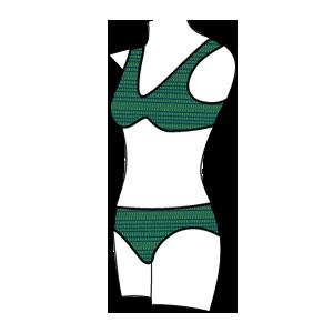 Women's Bikini Style Swimsuit – Front View